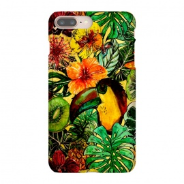 iPhone 8/7 plus  Tropical bird in flower jungle by