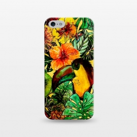 iPhone 5/5E/5s  Tropical bird in flower jungle by Utart
