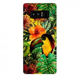 Galaxy Note 8  Tropical bird in flower jungle by Utart