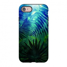 iPhone 8/7  Jungle at Night by Utart ( tropical, sweet, nature, natural, summer, exotic, caribbean,tropical, monstera, pattern, jungle, leaf, palm, plant, fashion, seamless, floral, illustration, botanical, hawaii, paradise, trendy, tropic, foliage, hawaiian, beach, aloha,trendy,chic,modern,vintage,spring,florida,hawaii,hawaiian,aloha,i)