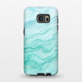 Galaxy S7 EDGE  Teal and Turquoise Marble Ink by Utart