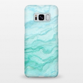 Galaxy S8+  Teal and Turquoise Marble Ink by Utart