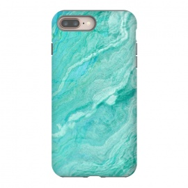 iPhone 8/7 plus  beautiful ink turquoise Marble texture by Utart (Stylish, Ombre, Girly, Marble, Marbled, Nature, Texture,  Geode ,Terrazzo,  Metallic, Scandi, Bohemian, Boho, Scandinavian, stone, crystal, quartz, gemstone, gem, granite,  shimmer, shimmery, shiny ,metallic,  trendy, girly, simply, simple, glitter, chrystal ,ink, malachite, agate, indigo,green,blue)