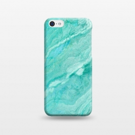 iPhone 5C  beautiful ink turquoise Marble texture by Utart