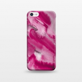 iPhone 5C  Pink and Grey Ink Marble Texture  by Utart