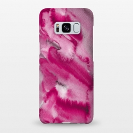 Galaxy S8+  Pink and Grey Ink Marble Texture  by Utart