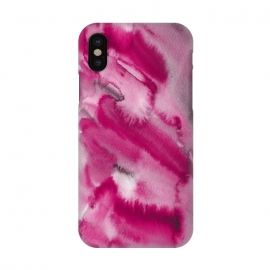 iPhone X  Pink and Grey Ink Marble Texture  by Utart