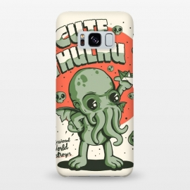 Galaxy S8+  Cutethulhu! by Ilustrata (Cute, cthulhu, Lovecraft, Call of Cthulhu, book, horror, 30s, retro, vintage, monster, sea, green)