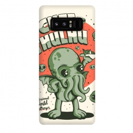 Galaxy Note 8  Cutethulhu! by  (Cute, cthulhu, Lovecraft, Call of Cthulhu, book, horror, 30s, retro, vintage, monster, sea, green)
