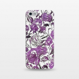 iPhone 5/5E/5s  Nostalgic Purple Flower Pattern by Andrea Haase