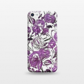 iPhone 5C  Nostalgic Purple Flower Pattern by Andrea Haase