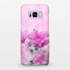 Galaxy S8+  Pink Cosmea Watercolor Art by Andrea Haase