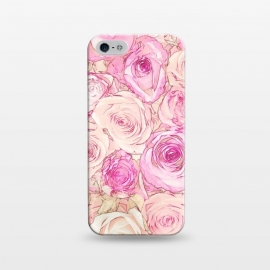 iPhone 5/5E/5s  Pastel Rose Pattern by Andrea Haase