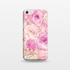 iPhone 5C  Pastel Rose Pattern by Andrea Haase
