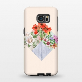 Galaxy S7 EDGE  Floral Blocks by Creativeaxle