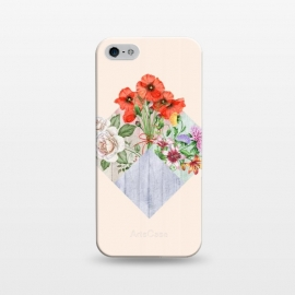 iPhone 5/5E/5s  Floral Blocks by Creativeaxle