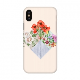 iPhone X  Floral Blocks by Creativeaxle