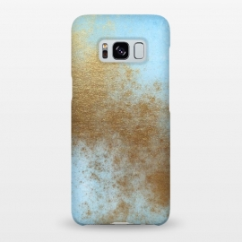 Galaxy S8+  Gold Metal and Teal Texture by Utart