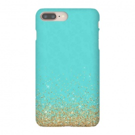 iPhone 8/7 plus  Teal and Gold Glitter by