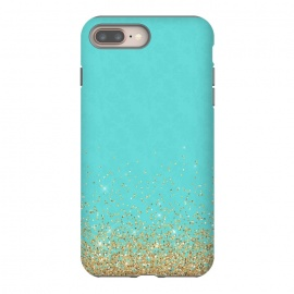 iPhone 8/7 plus  Teal and Gold Glitter by Utart ( texture, sparkle, shiny, luxury, shine, glow, metallic, valentine, glamour, love, wedding, glowing, bokeh, effect, metal, blur, brilliant, twinkle, valentines day, elegant, fashion, gleam, gloss, brilliance, rose gold, romantic, shimmer, flare, glossy, sparks, glisten,glitter,confetti,teal,blue,tur)