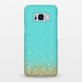 Galaxy S8+  Teal and Gold Glitter by Utart