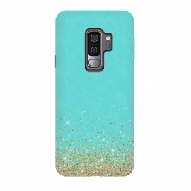 Galaxy S9+  Teal and Gold Glitter by Utart ( texture, sparkle, shiny, luxury, shine, glow, metallic, valentine, glamour, love, wedding, glowing, bokeh, effect, metal, blur, brilliant, twinkle, valentines day, elegant, fashion, gleam, gloss, brilliance, rose gold, romantic, shimmer, flare, glossy, sparks, glisten,glitter,confetti,teal,blue,tur)