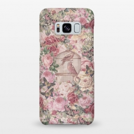 Galaxy S8+  Nostalgic Flowers With Birdcage by Andrea Haase