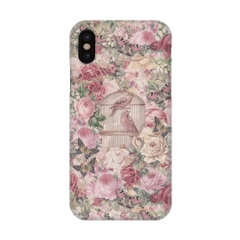 iPhone Xs / X  Nostalgic Flowers With Birdcage by Andrea Haase