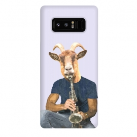 Galaxy Note 8  Goat Musician Illustration by Alemi