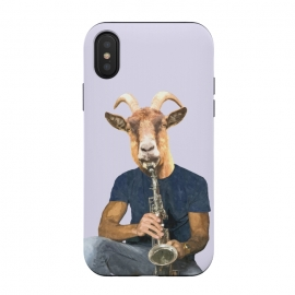 iPhone Xs / X  Goat Musician Illustration by Alemi
