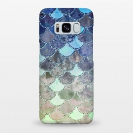 Galaxy S8+  Multicolor Watercolor Fish and Mermaid Scales by Utart