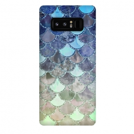 Galaxy Note 8  Multicolor Watercolor Fish and Mermaid Scales by Utart