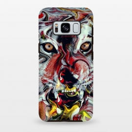Galaxy S8+  Tiger Abstract by Riza Peker (tigers,wild,cat,animals,art)