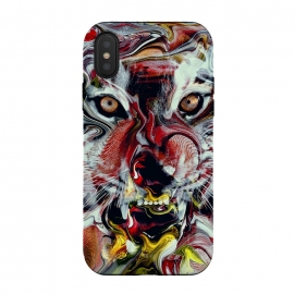 iPhone Xs / X  Tiger Abstract by  (tigers,wild,cat,animals,art)