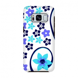 blue floral pattern 2 by MALLIKA