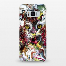 Galaxy S8+  Wildcat by Riza Peker (cat,cats,abstract,colorful,animals,art)