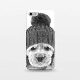 iPhone 5/5E/5s  Black and White Cocker Spaniel by Alemi