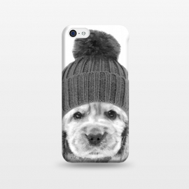 iPhone 5C  Black and White Cocker Spaniel by Alemi