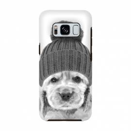 Galaxy S8  Black and White Cocker Spaniel by Alemi