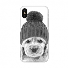 iPhone X  Black and White Cocker Spaniel by Alemi