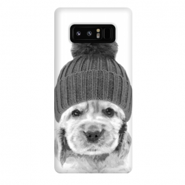 Galaxy Note 8  Black and White Cocker Spaniel by Alemi
