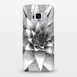 Galaxy S8+  Black and White Cactus Succulent by Alemi