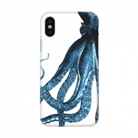 iPhone X  Blue Octopus Illustration by Alemi