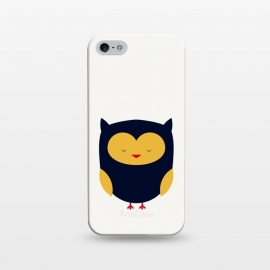 iPhone 5/5E/5s  cute little flat owl by TMSarts