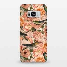 Galaxy S8+  Vintage Flower And Hummingbird Pattern by Andrea Haase