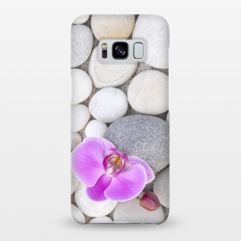 Galaxy S8+  Zen Style Orchid On Pebble by Andrea Haase