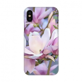 iPhone X  Magnolia Flower In Full Bloom by Andrea Haase