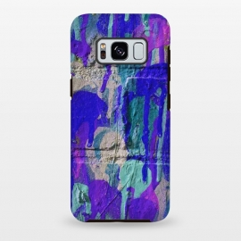 Galaxy S8+  Blue And Purple Spray Paint Wall by Andrea Haase
