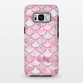 Galaxy S8 plus  Pretty pink and pastel Mermaid Scales  by