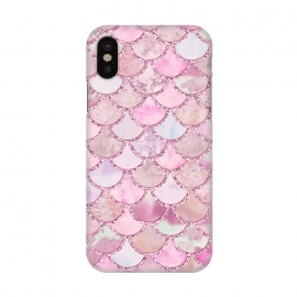 iPhone X  Pretty pink and pastel Mermaid Scales  by Utart